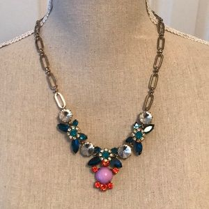 J. Crew colorful crystal necklace